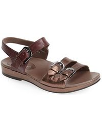 Earthies® 'Verdon' Crackle Leather Sandal brown - Lyst