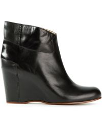 Mm6 By Maison Martin Margiela Wedge Ankle Boots - Lyst