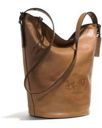 Coach Bleecker Logo Duffle Bag in Leather - Lyst