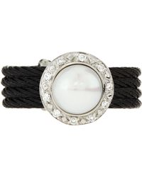 Charriol Diamondset Pearl Cable Ring Size 65 black - Lyst