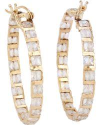 Nak Armstrong - Gemstone Hoop Earrings - Lyst