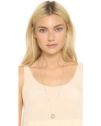 Monica Rich Kosann - Love Ring Necklace - Silver/clear - Lyst