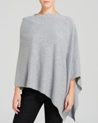 Eileen Fisher Gray Cashmere Poncho - Lyst