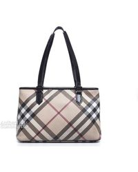 Burberry Pre-owned Nova Check Medium Tote Bag - Lyst