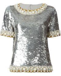 Ashish Sequin Embellished Top - Lyst