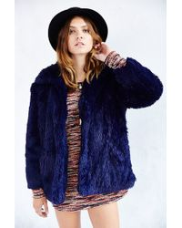 Cheap Monday Furious Faux Fur Jacket - Lyst