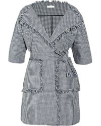 Chloé Checked Cotton Jacket - Lyst