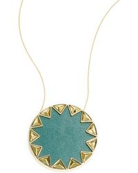 House of Harlow 1960 - Starburst Leather Pendant Necklace - Lyst