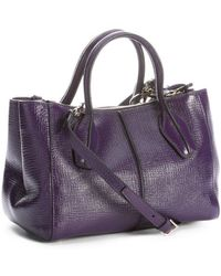 Tod's Purple Leather D-styling Small Convertible Tote Bag - Lyst