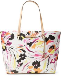 Diane von Furstenberg Large Ready To Go Printed Leather Tote - Lyst
