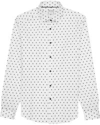 Reiss Lineker Square Print Shirt - Lyst
