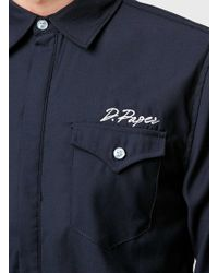 Daily Paper - Navy Blue Branded Shirt - Lyst