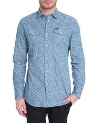 Diesel Sulferi Light Blue Printed Shirt - Lyst