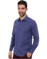 Calvin Klein Ls Mini Check Poplin Woven Shirt - Lyst