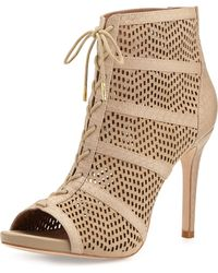 Joie Shari Perforated Lace-up Bootie - Lyst