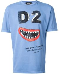 DSquared2 Printed Cotton T-shirt - Lyst