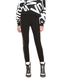DKNY Legging with Faux Leather - Lyst