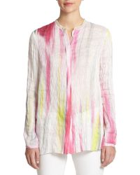 Elie Tahari Carly Blouse pink - Lyst