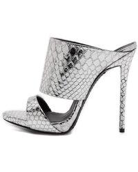 Giuseppe Zanotti Silver Snake Sandals  Silver - Lyst