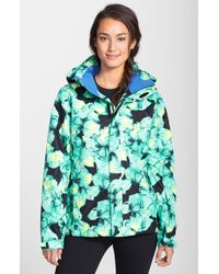 The North Face Women'S 'Straight Shot' Floral Print Insulated Jacket - Lyst