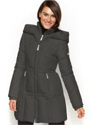 Vince Camuto Hooded Down Puffer Coat - Lyst