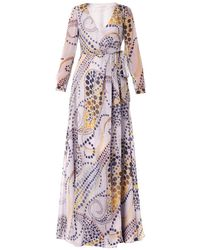 Matthew Williamson Paisley Star-Print Silk-Chiffon Dress - Lyst