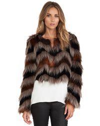 Twelfth Street Cynthia Vincent Faux Fur Coat - Lyst