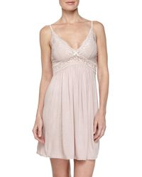 Eberjey Colette Lace-top Chemise - Lyst