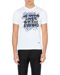 Vivienne Westwood He Who Lives by The Sword Cotton Jersey T-shirt - Lyst