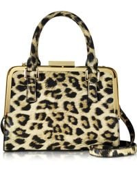Roccobarocco - Lyric Animal Print Eco Leather Satchel Bag - Lyst