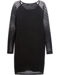 Avelon - 'Discrepancy' Sheer Stripes Dress - Lyst