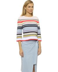 Suno Crazy Ottoman Sweater - Neon Stripe - Lyst