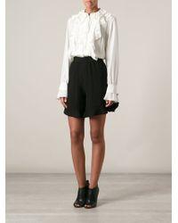 Chloé Black Frill Shorts - Lyst