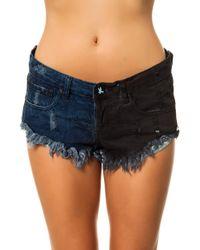 One Teaspoon The Bonitas Cut Off Shorts - Lyst