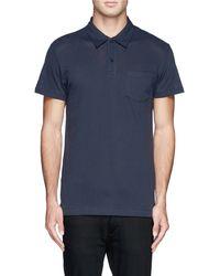Sunspel 'Riviera' Cotton Polo Shirt - Lyst
