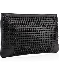 Christian Louboutin Loubiposh Clutch Spikes - Lyst