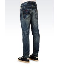 Armani Jeans - Antifit Dark Wash Jeans - Lyst