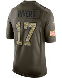 ... Nike Mens Philip Rivers San Diego Chargers Salute To Service Jersey  Lyst ... 1c2323d81