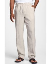 Tommy Bahama 'New Linen On The Beach' Easy Fit Pants beige - Lyst