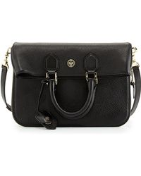 Tory Burch Robinson Fold-Over Messenger Bag - Lyst