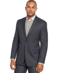 Michael Kors Navy and Black Checked Sport Coat - Lyst