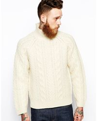 Levi's Clothing Rollneck Knit Sweater Heavy Guage Cable - Lyst