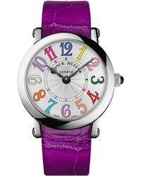 Franck Muller - Ladies Color Dreams Ronde Watch With Alligator Strap - Lyst