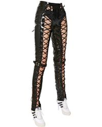 Jeremy Scott - Fringed Leather Trousers - Lyst