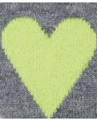 CASH CA - Light Grey Love Heart Cashmere Slippers - Lyst