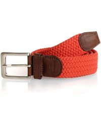 Tyler And Tyler - Red Woven Belt - Lyst