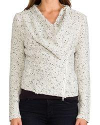 Greylin - Olivia Sweater Jacket in White - Lyst