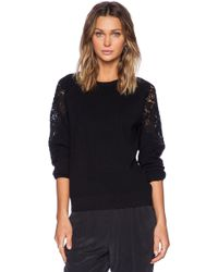 Theory Treston Lace Detail Sweater - Lyst