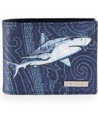 Etro - Shark-printed Wallet - Lyst