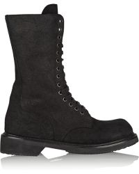 Rick Owens Brushed-suede Boots - Lyst